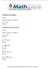 exercices longueur et largeur maths troisieme 829