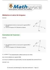 exercices mediatrice et calcul de longueur maths sixieme 475