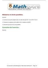 Fichier PDF exercices mediatrice et droite paralleles maths sixieme 474