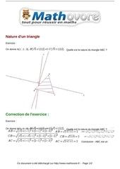 exercices nature d un triangle maths premiere 1137 1