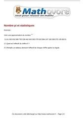 exercices nombre pi et statistiques maths cinquieme 1302 1