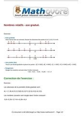 exercices nombres relatifs axe gradue maths cinquieme 243