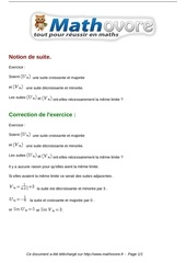 Fichier PDF exercices notion de suite maths terminale 75 1