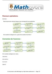 exercices parcours operations maths sixieme 257