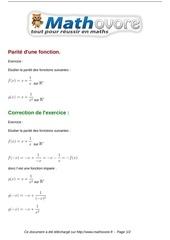 exercices parite d une fonction maths premiere 82