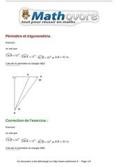 Fichier PDF exercices perimetre et trigonometrie maths troisieme 807