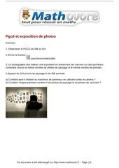 exercices pgcd et exposition de photos maths troisieme 1459