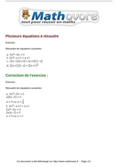 exercices plusieurs equations a resoudre maths seconde 978
