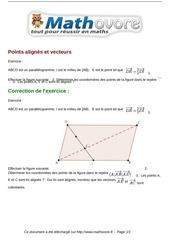 exercices points alignes et vecteurs maths seconde 984