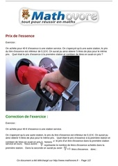 exercices prix de l essence maths premiere 1108