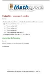 exercices probabilites ensemble de nombre maths premiere 91