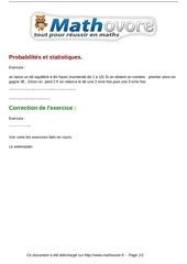 Fichier PDF exercices probabilites et statistiques maths troisieme 791