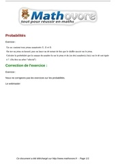 exercices probabilites maths premiere 90