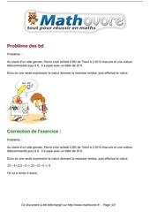 Fichier PDF exercices probleme des bd maths cinquieme 1368