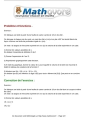 exercices probleme et fonctions maths seconde 735