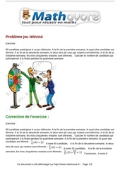 exercices probleme jeu televise maths quatrieme 1426