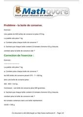 exercices probleme la boite de conserve maths sixieme 374