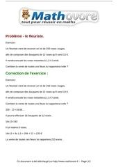 Fichier PDF exercices probleme le fleuriste maths sixieme 373