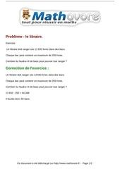exercices probleme le libraire maths sixieme 371