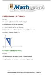 exercices probleme ouvert de l equerre maths quatrieme 844