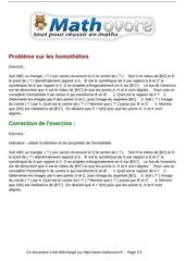 Fichier PDF exercices probleme sur les homotheties maths premiere 1143