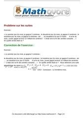 Fichier PDF exercices probleme sur les suites maths premiere 1054