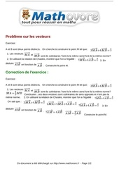 Fichier PDF exercices probleme sur les vecteurs maths seconde 991