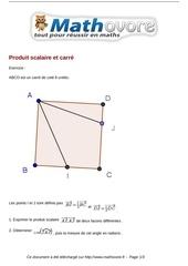 exercices produit scalaire et carre maths terminale 872