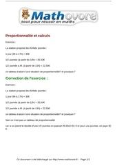 Fichier PDF exercices proportionnalite et calculs maths cinquieme 594