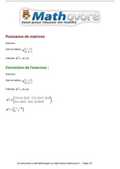 exercices puissance de matrices maths terminale 1196