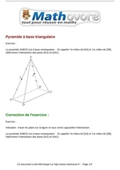 exercices pyramide a base triangulaire maths premiere 1142