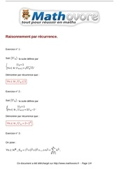 exercices raisonnement par recurrence maths terminale 168