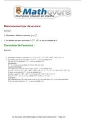 exercices raisonnement par recurrence maths terminale 661