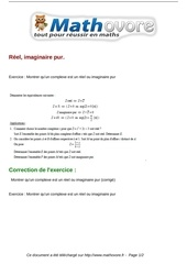 Fichier PDF exercices reel imaginaire pur maths terminale 202
