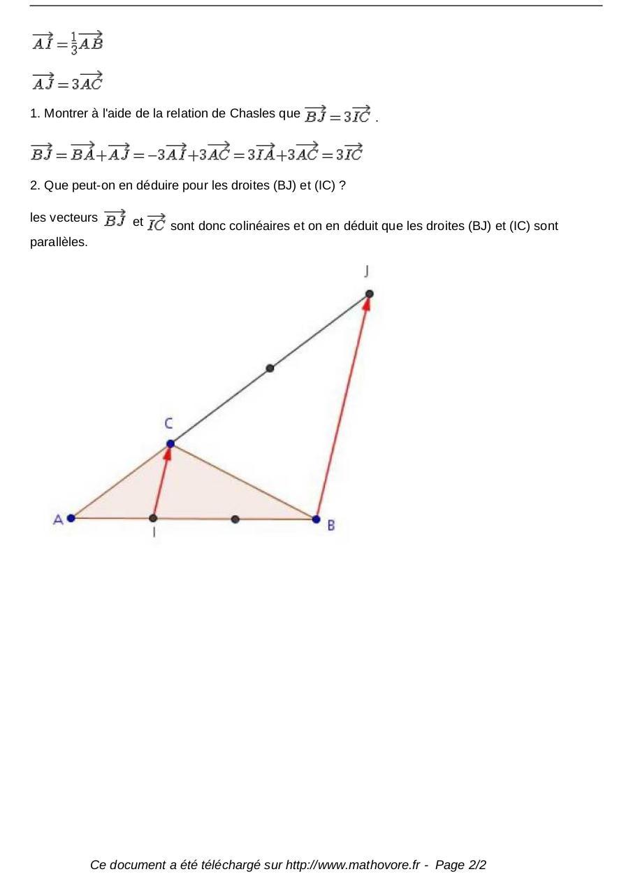 Exercices Relation De Chasles Et Vecteurs Maths Seconde 989 Fichier Pdf
