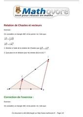 Fichier PDF exercices relation de chasles et vecteurs maths seconde 989