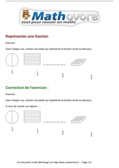 Fichier PDF exercices representer une fraction maths cinquieme 1312