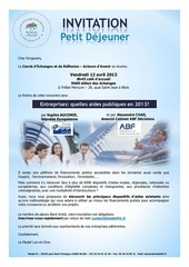 invitation du 12 avril 2013