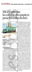 les echos 15 03 2013 mge collecte papiers