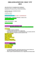 liste des taches organisation 2013x