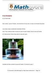 probleme a la fontaine maths 291
