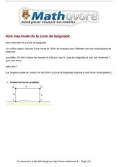Fichier PDF probleme aire maximale de la zone de baignade maths 64
