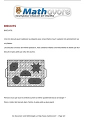 probleme biscuits maths 293