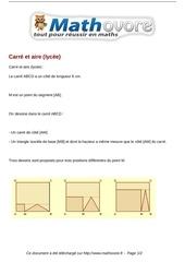 Fichier PDF probleme carre et aire lycee maths 350