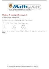 Fichier PDF probleme chateau de carte probleme ouvert maths 45