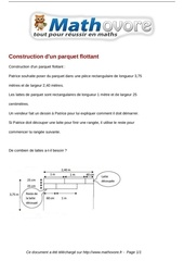 probleme construction d un parquet flottant maths 107