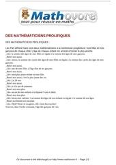 probleme des mathematiciens prolifiques maths 319