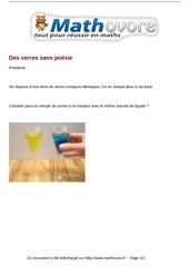 probleme des verres sans poesie maths 177