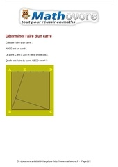 Fichier PDF probleme determiner l aire d un carre maths 88