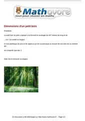 Fichier PDF probleme dimensions d un petit bois maths 161